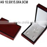 Elegant Glossy Lacquered Wooden Jewelry Ring Pendant Necklace Boxes Manufacturers China W149