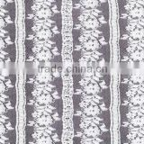 Top quality hand cutting fashion tulle A grade quanlity lace fabric