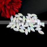 Wholesale White Opal Horse Eye Flat Back Sew-on Acrylic Stone, Sew-on Rhinestones Strip, Sew on Patch for dreassing