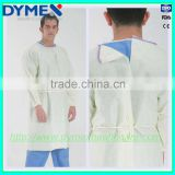 new arrival hospital medical consumables non sterile ultrasonic thermal welding yellow disposable isolation gown