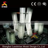 architectural model maker with lighting and plastic model tree