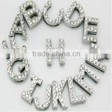 Hot sale 10mm rhinestone alphabet slide letters for bracelet                                                                         Quality Choice