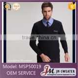 High quality mens winter knitted black sweater work wear security guard uniform