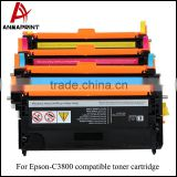 Anmaprint Colored Toner C3800 toner cartridge for Epson C3800 compatible toner cartridge