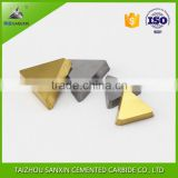 YG6/p30 tungsten carbide brazed tips, lathe tips with silver and golden color