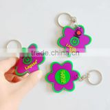 2013 fashion 2D/3D effect soft pvc separable key chain