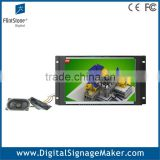 Flexible embeded wide screen 10 inch advertising promotional open frame lcd signage monitor