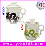 Factory direct sale square ceramic mug cup