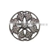 Jewelry Making Components Pave Diamond Silver Beads Finding, New Design Beads Spacer Finding