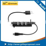 3 Port Portable USB 2.0 Hub with Power Switch for Ultra Book, MacBook Air, Windows 8 Tablet PC - Black (HB-U3P4)
