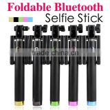 Self portrait stick monopod phone camera wireless bluetooth electronic component handheld colorful wireless selfie stick