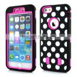 Wholesale new design colorful Tough impact zebra PC+Silicone Ultra hybrid defender shockproof case for iPhone 6 4.7""