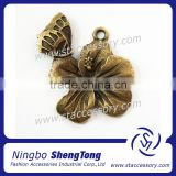 Antique Bronze Flower And Butterfly Charms Wedding Pendants