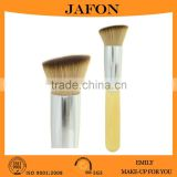 Bamboo handle angled foundation brush soft dense makeup brush                                                                         Quality Choice