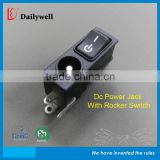 DC Power Jack with rocker switch