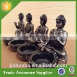 Custom Resin Thai Buddha 4 Tea light Candle Holder Religion Statue