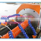 COD multichannel fiber optic bundle tube equipment/plastic spiral cable pipe extrusion line