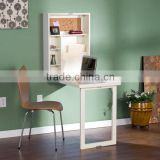 Wall Floding Modern Laminate Desks Mini Computer Desk Light Color MFC Home Storage Shelf Box