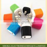 High quality 1A/1.5A 110V USB travel adapter charger with IC smart chip for mobile cell phone