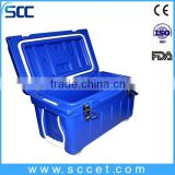 SCC brand LLDPE&PU Plastic ice box with handle/outdoor ice cooler box