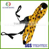 Wholesale customized nylon polyester/cotton/pp material fashion quality durable printed shoulder neck camera strap for promotion