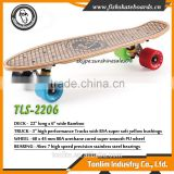 Wholesale Cruiser Bamboo Skateboard, black grip tape deck blank bamboo skateboard decks