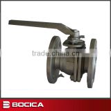 Two Pieces DIN Flanged Ball Valve with Platform