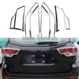4 Pcs/Set Car Rear Tail Light Protection Cover For Toyota Highlander 2014 2015 ABS Auto Trim Decoration Accessories