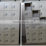 Cold rolled steel 18 door school storage wardrobe / metal dormitory locker with 18 doors