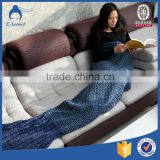 new popular chunky handmade knit mermaid tail blanket wholesale