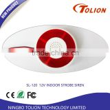 Wireless Strobe Light Siren with Red Flashing, Wireless Alarm External Siren, Remote Siren