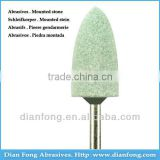 G-09 HP Shank Bullet Shaped Silicone Carbide Maded Medium Grit Green Mounted Stone Centerless Grinding Burs