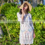 Sexy Women Bathing Suit Bikini Swimwear Cover Up Hollow Shirt Blouse Beach Dress