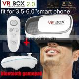 2016 new VR BOX Virtual reality 3D glasses for 3.5 - 6.0 inch Smartphone 3D glasses +Game controllers
