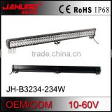 offroad 36 inch 234w led light bar aluminum profile double row sliding adjustable bottom bracket