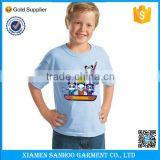 Custom Tshirt Logo Design Screen Printing Professional Summer Style Round Neck Kids Tshirt