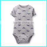New design printed baby boy bodysuit cotton custom baby body suits summer baby bodysuit                                                                         Quality Choice