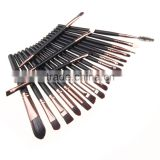 Wholesale 20 Pcs Pro Makeup Set Powder Foundation Eyeshadow Eyeliner Lip Cosmetic Brushes