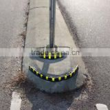 Traffic Safety flexible Protective Rubber Corner Guard Reflector