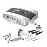 Diamond micro-dermabrasion+skin scrubber+ultrasonic+cool and hot hammer+galvanic 5 in 1 beauty equipment