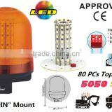 E-MARK SMD Flash Warning Light, ECE MARK SMD Rotating Warning Beacon (SR-BL-502S-4) Europe DIN Mount LED Beacons, 3 Functions