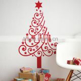 Christmas custom DIY tree home wall decor stickers water-proof removable vinyl home decoration tree wall decal