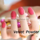 New Fashion 12 Pots Velvet Nail Polish Soft Flocking Powder 3d Nail Art Tips Decoration Set