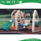 Kids small plastic swing slide outdoor in guangzhou