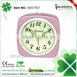 pink square clock,table clock