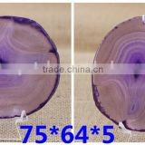 Natural polished amethyst agate slice pendant jewelry