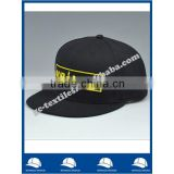 China alibaba gold supplier acrylic fabric black custom logo embroidery six panel baseball cap