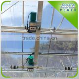 Greenhouse gear motor vent opener/ curtaining system