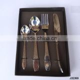 steel cutlery set curved end and hammered handle with knob at end in mirror polish finish