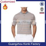 Men's Short Sleeve Performance Ventilated Stripe Polo Shirt